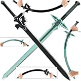 Sword Art Online Kirito Kirigaya Dark Repulsor Elucidator Foam LARP Sword Set