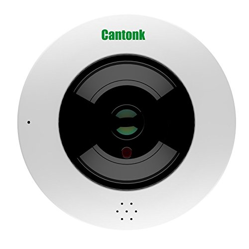 Cantonk IPDE20F300 - Telecamera fisheye 360° panoramica, Full HD (2.4 Megapixel), Wi-Fi + Poe, Slot microSD, H.264, ONVIF