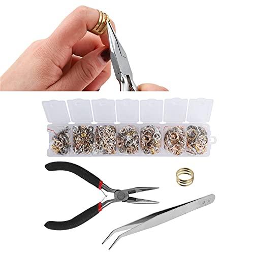 Broche de langosta, hallazgos de joyería, conjunto de broche de langosta, anillo para hacer joyas, 4/5/6/7/8 / 10mm para reparar collares