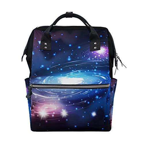 Sac à langer grande capacité, sac à dos à langer maman pour soins de bébé, Bright Galaxy élégant multifonction, sac à dos de voyage élégant pour maman et papa