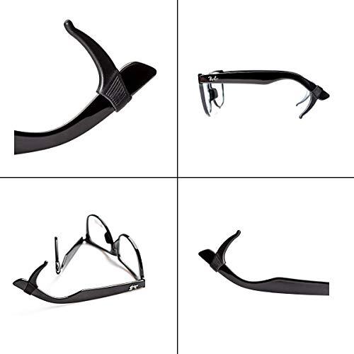 Keepons Superstretch Black Prevent Eyeglass Slipping Anti Slip Anti Slide Eyewear Sunglasses Spectacle Glasses Temple Tip Sports Ear Hook Sleeve Retainer