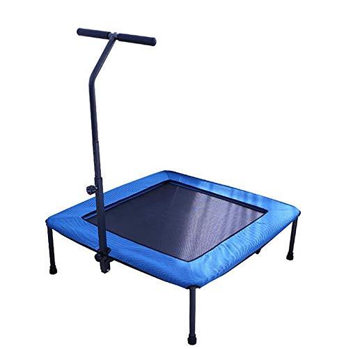 WLWLEO In Home Opvouwbare Rebounder Trampolines Oefening Elastische Touw Trampoline Super Rustig met Afneembare verstelbare leuning, voor Volwassenen Kinderen