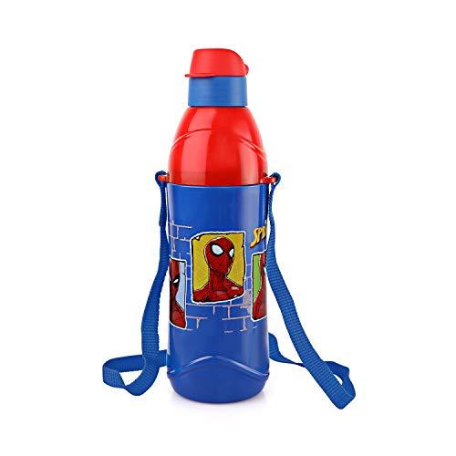 Cello Puro Steel-X Kids Zee Water Bottle, Spider Man Blue, 900 ml