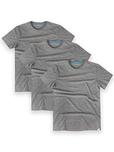 Harry Bear Camiseta Paquete de 3 para Hombre Gris Talla X-Large