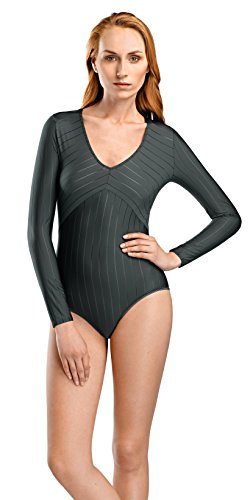 Hanro Damen Naemi Long Sleeve Bodysuit Dessous, Kiefer, X-Klein