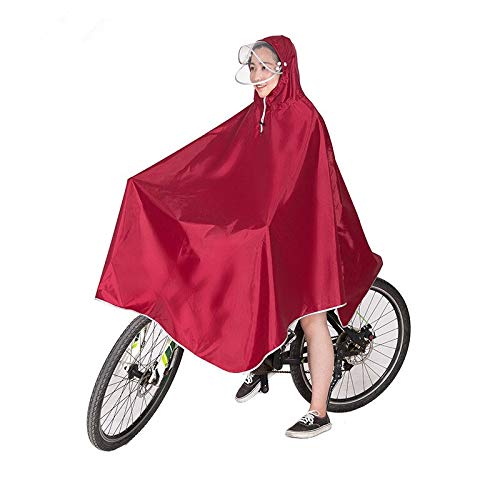 liutao Poncho para Bicicleta Hombres Mujeres Bicicleta Impermeable Ciclismo Cape Cape Poncho con Capucha Abrigo Abarcadero Abrigo Abrigo Lluvia Movilidad Scooter Funda Chubasquero Ciclismo