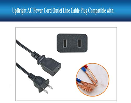 UpBright 120V AC in Charging Power Cord Outlet Socket Charger Cable Plug Compatible with PowerStation Model PSX PSX2 PS X2 X 2 3 PSX3 PSX-3 Station 12V DC Battery Supply Jump Starter Air Compressor