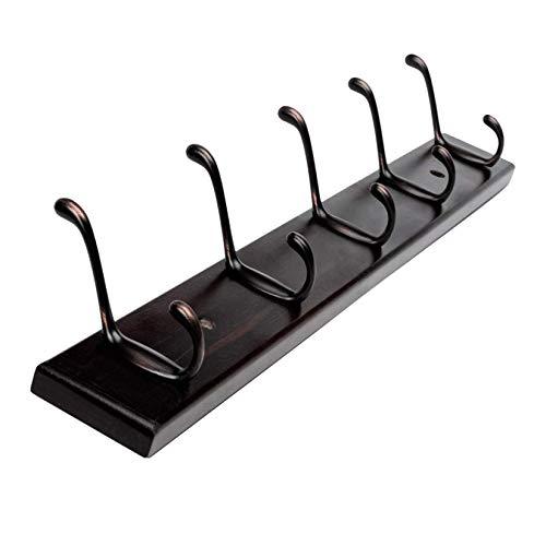 TIANYOU Rack de Abrigo Montado en la Pared 4 Ganchos Modernos Rack de Abrigo de Granja para la Entrada Baño de Vestimenta Cuarto de Vestir Bastidores de la Pared, Natural fuerte y robusto/M