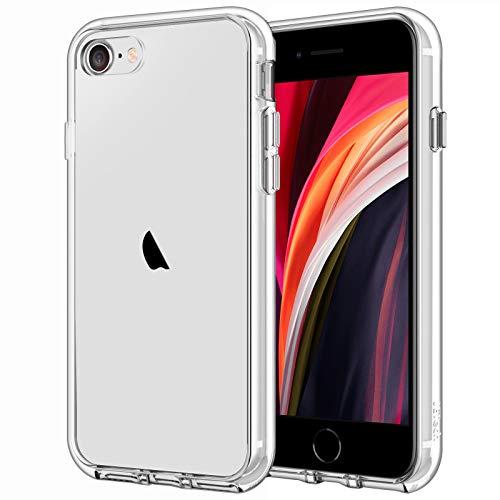 JETech Hülle Kompatibel iPhone SE 2020, Schutzhülle mit Anti-kratzt Transparente und Rückseite, HD Klar