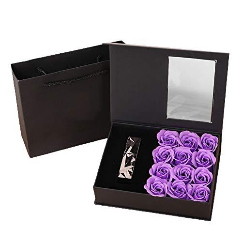 JGONas Diseño de flores conservadas para pintalabios, perfume, recipiente para guardar el día de San Valentín, Día de la Madre, Navidad, cumpleaños