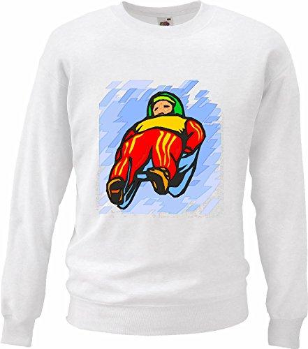 Bandenmarkt sweatshirt sweater rodeln slee Apres Ski wintersport motief nr. 4504