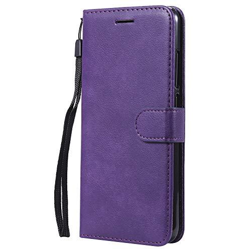 Jeewi Hülle für [Xiaomi Mi 8 Lite] Hülle Handyhülle [Standfunktion] [Kartenfach] [Magnetverschluss] Tasche Etui Schutzhülle lederhülle flip case für Xiaomi Mi8 Lite - JEKT051809 Violett