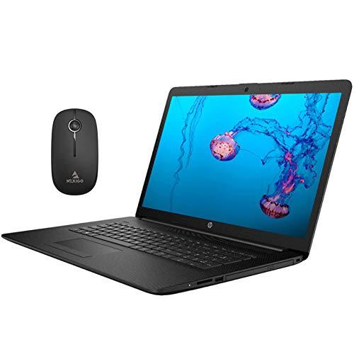 2020 Newest HP Pavilion 17.3 Inch Laptop (Intel Quad-Core i5-8265U up to 3.9 GHz, 8GB RAM, 1TB SSD (Boot) + 1TB HDD, Webcam, DVD, Windows 10) (Black) + NexiGo Wireless Mouse Bundle