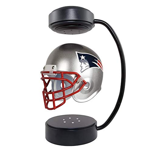 Rotierender schwimmender Helm Sammlerstück sammelbarer Held-Fußballhelm mit elektromagnetischer Ständer und Atmosphäre Lampe, NFL Rugby-Fans, Patriot