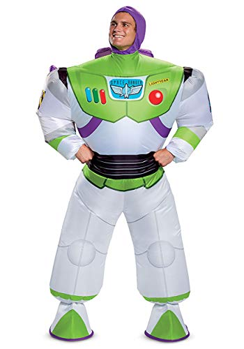 Disguise Men's Disney Buzz Lightyear Inflatable Toy Story 4 Costume, White, One Size Adult