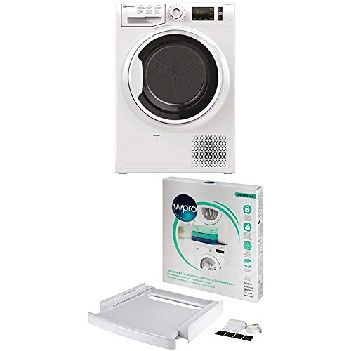 Bauknecht T Soft M11 82WK DE Wärmepumpentrockner/A++/8 kg/ActiveCare-Technologie/ + wpro SKS101 - Waschmaschinenzubehör/ Trocknerzubehör/ Verbindungsrahmen m. Ablage