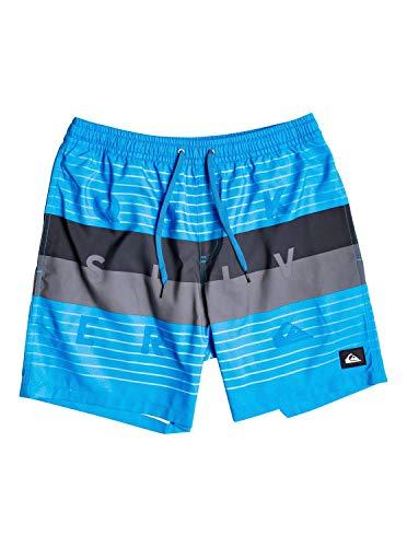 "Quiksilver™ Word Block 17"" Swim Shorts Schwimmshorts Männer L Blau"