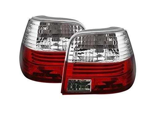 V-Maxzone VT10 Lot de feux arrière en verre transparent Rouge/blanc