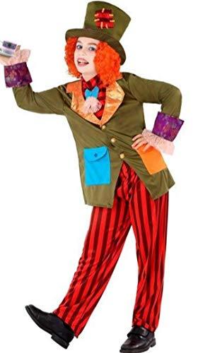 Atosa-61292 Atosa-61292-Disfraz Sombrerero Loco-Infantil NIo, Multicolor, 5 a 6 aos (61292