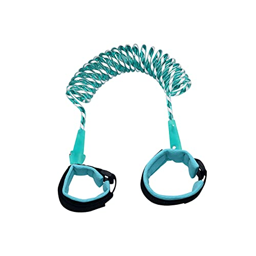 Multifunctional Child Safety Belt, Anti-Lost Belt, Night Reflection, Anti-Lost Wrist Strap, Wrist Strap, Outdoor Safety Belt Rope for Children and Toddlers, Elastic Band (2m, Green)
