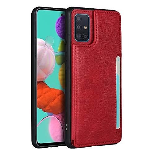 Étui Portefeuille Pour Samsung Galaxy A51 (Rouge)