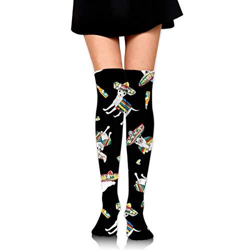 Womens//Girls Purple Cartoon Unicorn Casual Socks Yoga Socks Over The Knee High Socks 23.6