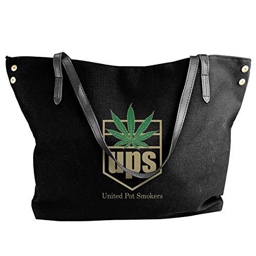 tiao9143 Damenhandtaschen,Damen-Schultertaschen United Pot Smokers Women Canvas Shoulder Bag Casual Messenger Bags Classic purse shopping Sling Bag