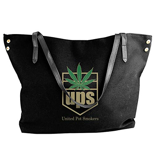 tiao9143 Damenhandtaschen,Damen-Schultertaschen United Pot Smokers Women Canvas Shoulder Bag Casual Messenger Bags Classic purse shopping Sling Bag