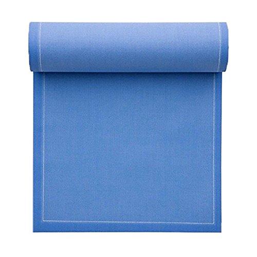 Serviette de table en coton 32x32cm - Rouleau de 12 serviettes - Bleu Mer