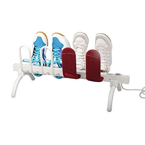 HaoLi Elektrischer Schuhtrockner, intelligenter Thermostat-Schuhhandschuh-Trockner und Wärmer Original 8-Schuh-Trockner, 700X300X315MM, weiß