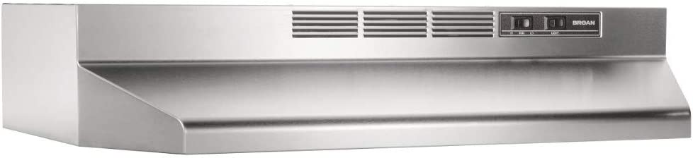 Broan-NuTone BUEZ130SS Non-Ducted Ductless Ranking New color TOP20 with Range Light Hood