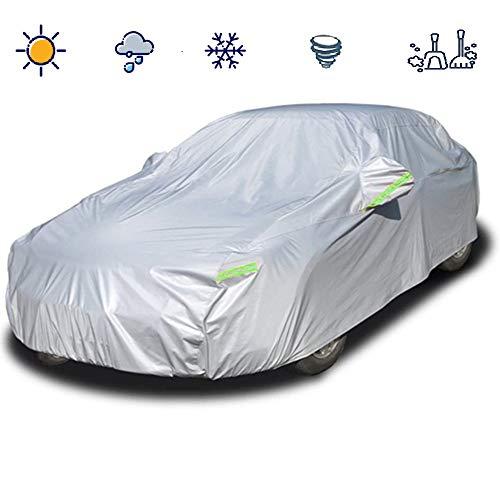 Telo Copriauto Universale da Esterno per Auto 170T Impermeabile, Antipolvere, Anti-UV con Strisce Riflettenti