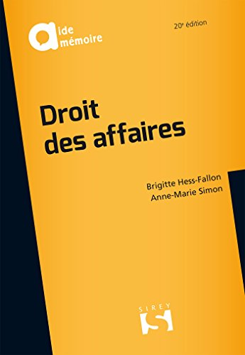 Droit des affaires - 20e ed.