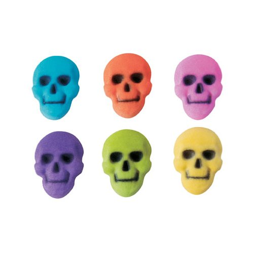 New arrival Halloween Colored Skull Assortment Sugar Decorations Cookie quality assurance Cupc