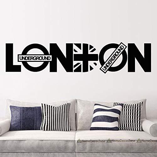 mlpnko London Wandtattoo abnehmbare Wandaufkleber Home Decoration Selbstklebende Wandbild Wohnzimmer Schlafzimmer Wandkunst,CJX12793-69x58cm
