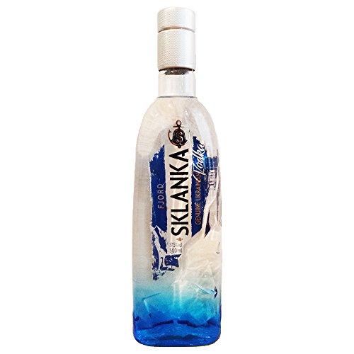 Vodka Sklanka FJORD 0,5L ukrainischer Wodka Kohlenfiltration
