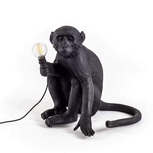 JYDQM Lámpara de Mesa Moderna, lámpara de Escritorio Monkey, lámpara de Escritorio de Resina con Monos, iluminación de Escritorio for Sala de Estar, Dormitorio, Oficina, Dormitorio Universitario