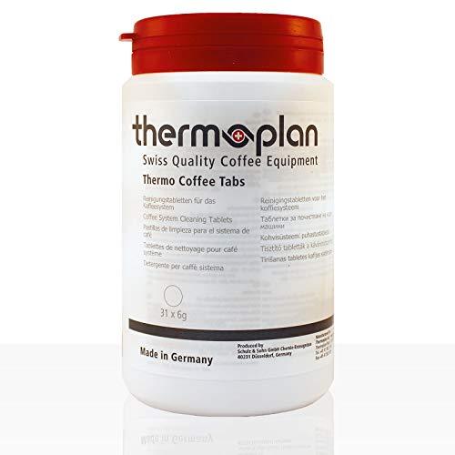 Thermoplan | Thermo Coffee Tabs | Reinigungstabletten für Black&White 4 c Kaffeevollautomaten ( Dose mit 31 Tabletten a 6 g )