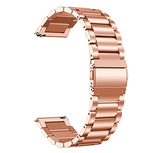 Monllack Banda de Reloj, Banda de Acero Inoxidable de 22 mm de Ancho para Samsung Gear S2 S3 Galaxy Correa de Reloj Deportiva Pulsera de Metal Banda de Reloj clásica (Oro Rosa)