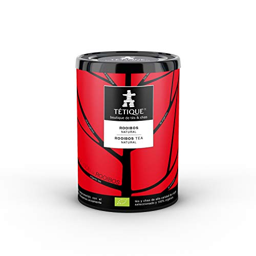 TÉTIQUE Infusion Rooibos natural orgánico con certificado BIO, Rooibos Africano, Sin Teina, 17 bolsitas de tés biodegradables