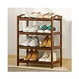 WYFC Zapatos Rack 19.6/27.5in de 4 Niveles Organizador Zapatero Puerta de Entrada de la Sala de baño de Zapatos Estante de bambú apilable Soporte del Zapato (tamaño : 19.6in)