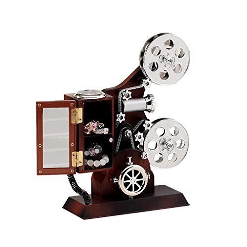 ZANZAN Caja de música Caja Musical con 2 Compartimentos Joyero Musical para Niñas Pequeñas Caja De Música con Proyector Retro Caja De Música De Caja de música para Regalo