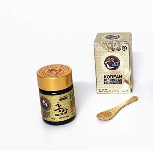 Ginseng Rojo Coreano Extracto GOLD 50g 100% natural - Curación de 45 días - La mejor calidad de ginseng rojo coreano - La concentración más alta posible de ginsenósidos Rg1, Rb1, Rg3  13mg/g.