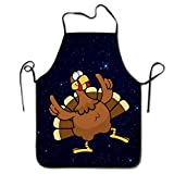 Thanksgiving Day Turkey Unisex Cooking Kitchen Chef Apron for Baking, BBQ, Grill