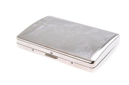 Quantum Abacus Zigarettenetui aus Zinklegierung, zeitlos elegant, für 20 Slim- und Superslim- (100mm) BZW. 16 Normale Zigaretten, Mod. 791-04 (DE)