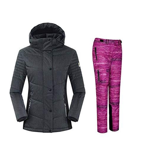 ski pak JSGJHXFSnowboarding Suits Vrouwen Winter Winddicht Waterdichte Vrouwelijke Ski Jas En Sneeuw Broek Sets Super Warm Merken Vrouwen Ski Suit