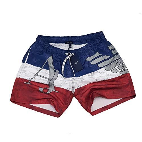 Emporio Armani Pantaloncini da bagno per uomo (XL, AJ Red)