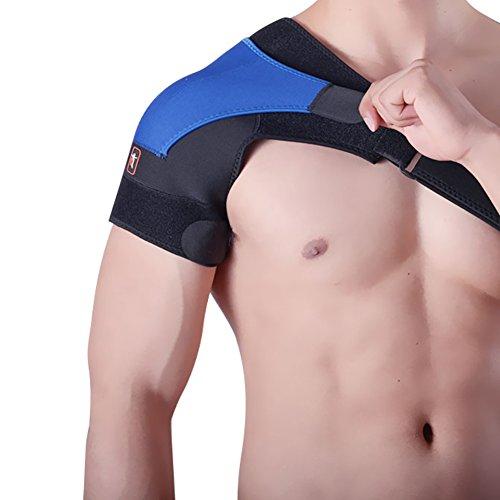 Unisex Verstellbare Schulterbandage Schulter-Bandage aus Neopren Schulterschutz Schultergurt Herren und Damen Schulter Unterstützung Wrap passt für Rechte oder Linke Schulter