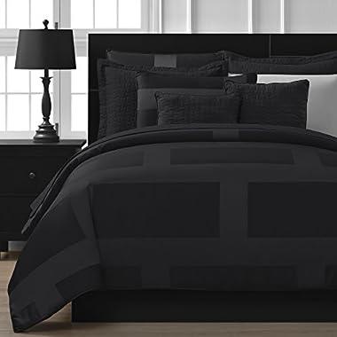 Comfy Bedding 1022 Comforter Set, Queen 5-Piece, Black