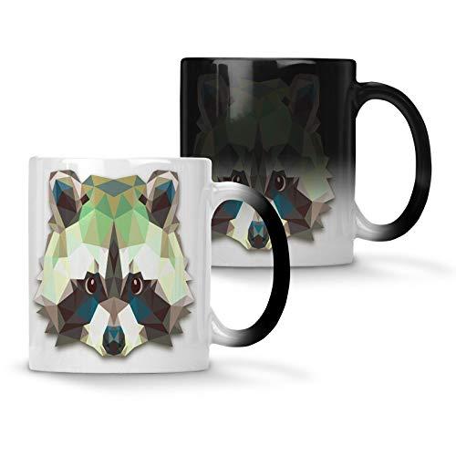 Origami-Waschbär-Tierliebhaber-Neuheit Farbwechsel 33 cl Tasse o63w